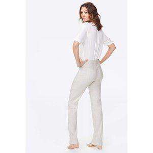 NYDJ USA Linen Lyocell Cream Trousers